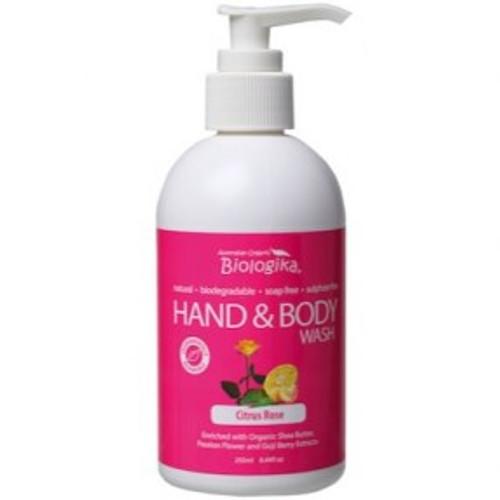 Citrus Rose Hand & Body Wash 250ml - Biologika