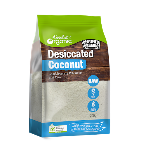 Coconut Dessicated - Absolute Organics 200g