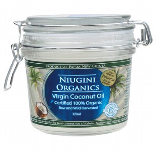 Coconut Oil Organic 320ml Clip Jar - Niugini Organics