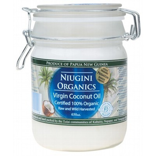 Coconut Oil Organic 650ml Clip Jar - Niugini Organics