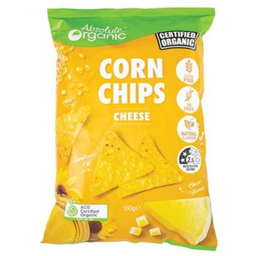 Corn Chips Cheese Organic 160g - Absolute Organic