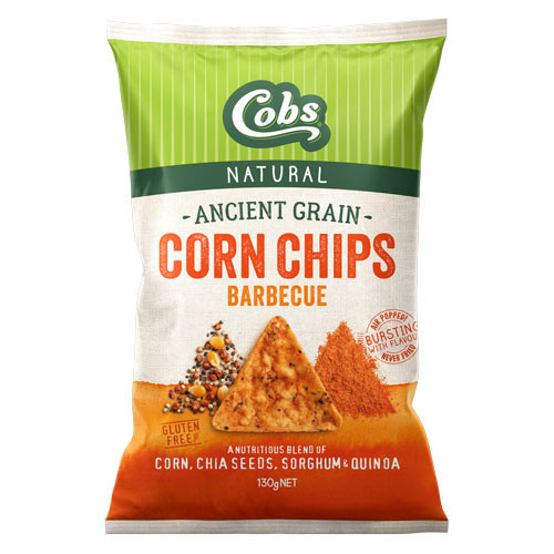 Corn Chips Ancient Grains Barbecue 130g - Cobs