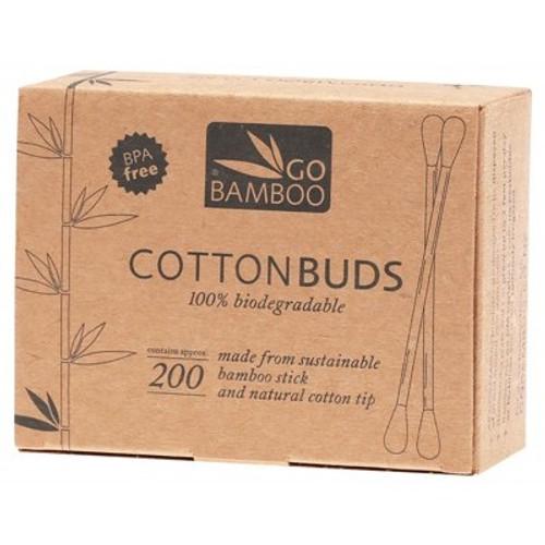 Cotton Buds Bamboo Pk 200 - Go Bamboo