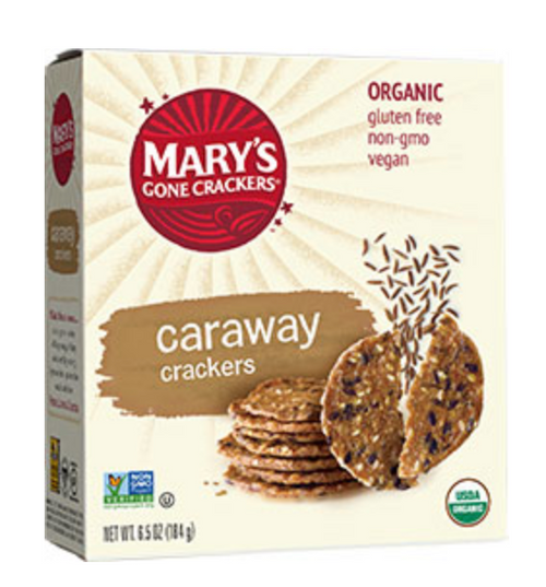 Caraway Crackers Organic & Gluten Free 184g- Mary's Gone Crackers