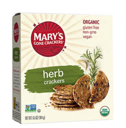 Herb Crackers Organic & Gluten Free 184g - Mary's Gone Crackers