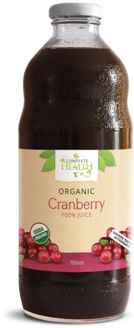 Cranberry 100% Juice Organic 700ml - Complete Health
