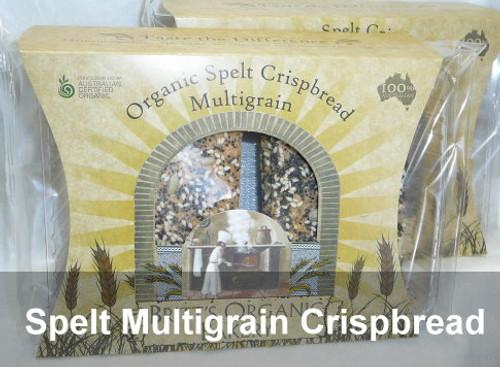 Spelt Multigrain Crispbread Organic 160g - Britts Organic