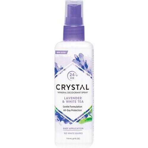 Lavender & White Tea Deodorant Spray 118ml - Crystal