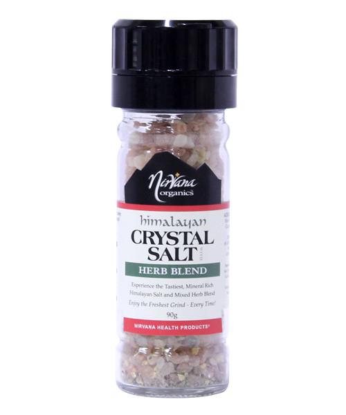 Himalayan Crystal Salt | Herb Blend & Grinder 90g - Nirvana Organics