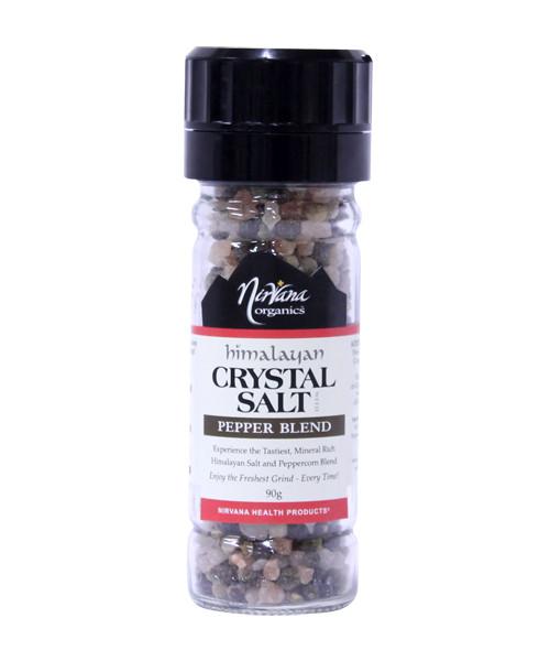 Himalayan Crystal Salt | Pepper Blend & Grinder 90g - Nirvana Organics