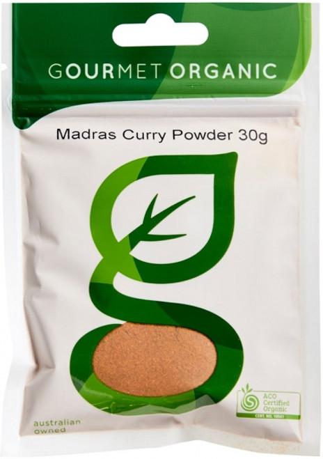 Curry Powder Madras Organic 30g - Gourmet Organics