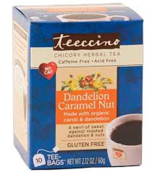 Herbal Coffee/Tea Dandelion Caramel Nut 10 Bags - Teeccino