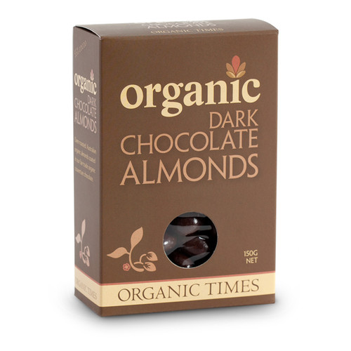 Dark Chocolate Almonds 150g - Organic Times
