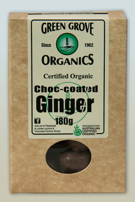 Dark Chocolate Ginger Organic 180g - Green Grove Organics
