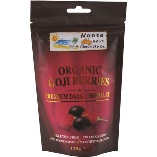 Dark Chocolate Goji Berries 125g - Noosa Natural Co