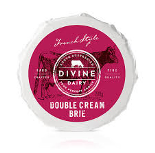 Brie Wheel Double Cream Organic 200g - Divine Dairy