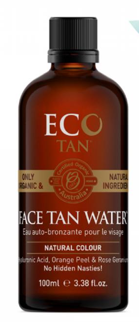 Face Tan Water Natural Colour Organic 100ml - Eco Tan