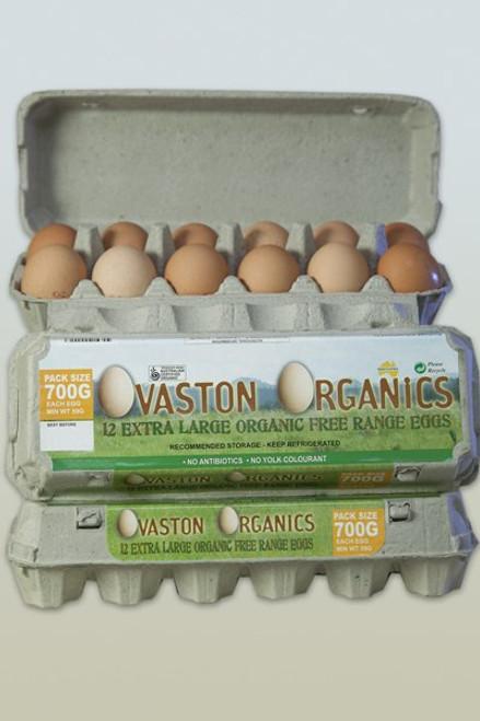Eggs Organic Free Range XL Half Dozen - Ovaston