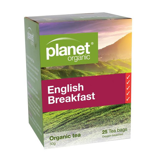 English Breakfast Tea 25 Bags - Planet Organic