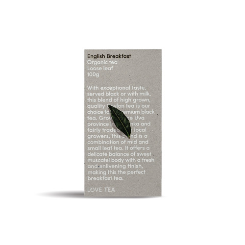 English Breakfast Tea Loose Leaf Organic 100g - Love Tea