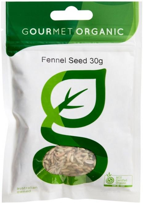 Fennel Seed Organic 30g - Gourmet Organics