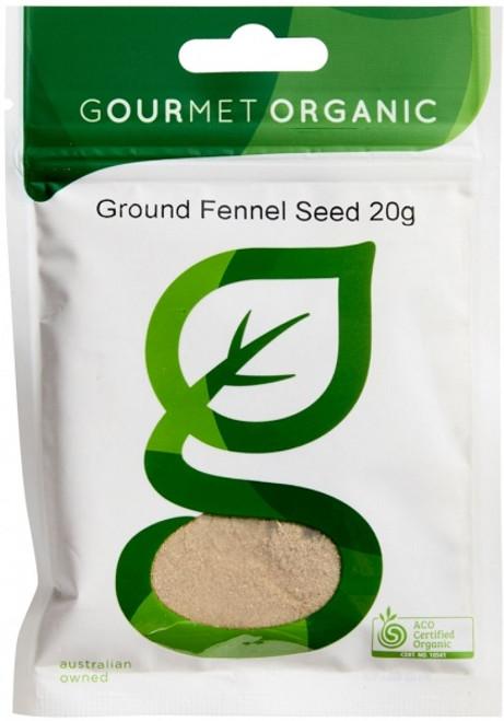 Fennel Seed Ground Organic 20g - Gourmet Organics
