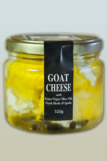 Goat Cheese Marinated in Olive Oil & Herbs Organic 550g Large - Meredith