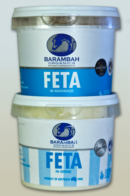 Fetta (Feta) In Brine Organic 200g - Barambah