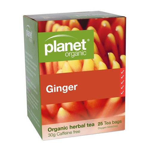 Ginger Tea 25 Bags - Planet Organic