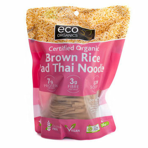 Noodle Pad Thai Brown Rice Organic 200g - Absolute Organic
