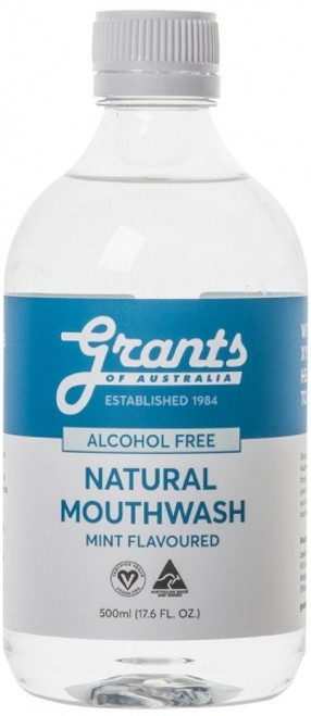 Natural Mouthwash with Xylitol Mint 500ml - Grants