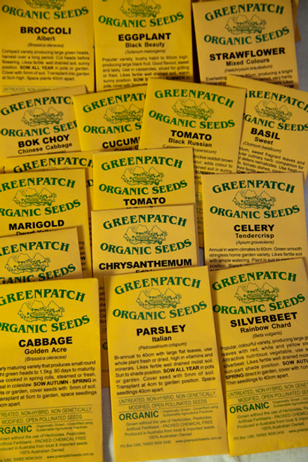 Greenpatch Organic Seed Packets