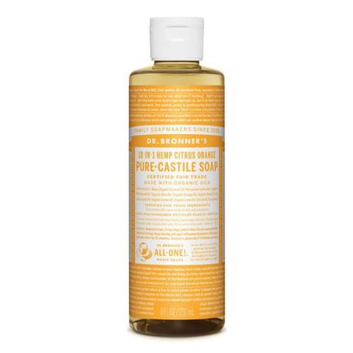 Citrus Orange Pure Castile Hemp Soap 237ml - Dr Bronner