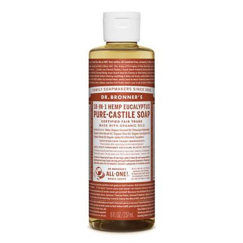 Eucalyptus Pure Castile Hemp Soap 237ml - Dr Bronner
