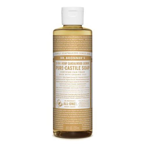 Sandalwood Jasmine Pure Castile Hemp Soap 473ml - Dr Bronner