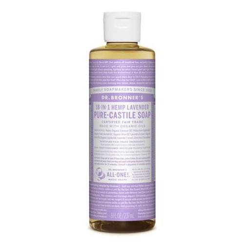 Lavender Pure Castile Hemp Soap 237ml - Dr Bronner