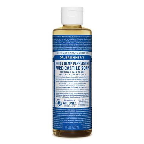 Peppermint Pure Castile Hemp Soap 237ml - Dr Bronner
