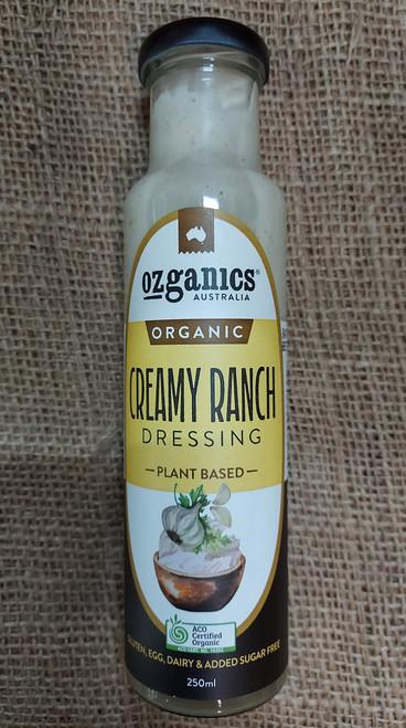 Dressing Creamy Ranch Organic 250ml - Ozganics