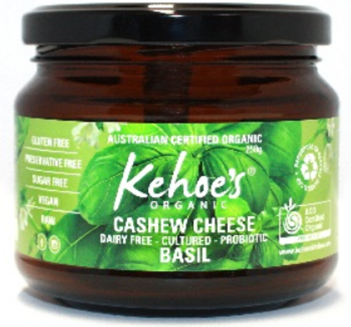 Cashew Cheese Basil Organic 250g - Kehoes Kitchen