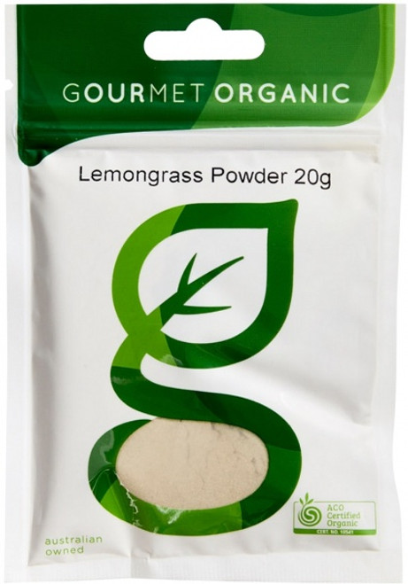 Lemongrass Powder Organic 20g - Gourmet Organics
