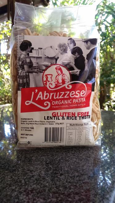 Lentil & Rice Twists 375g - L'Abruzzese