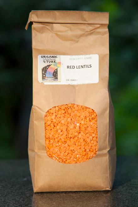 Lentils Red Split Organic 500g - ONS