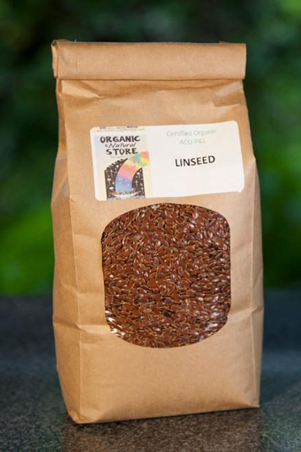 Linseeds (Flaxseeds) Organic Bulk per 500g  - ONS