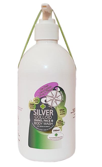 Body Wash Silver Colloid Tea tree| Lemongrass|Lime & Orange 500ml - Silver Health