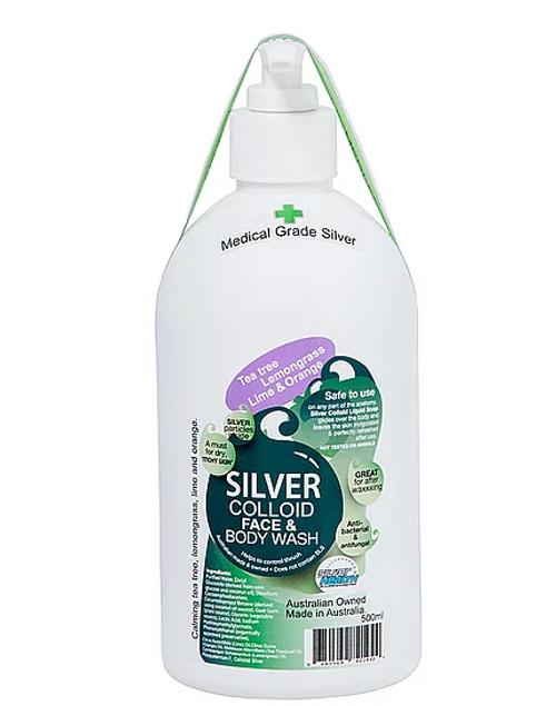 Body Wash Colloidal Silver |Tea tree| Lemongrass|Lime & Orange 500ml - Silver Health