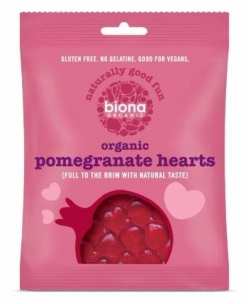 Lollies Pomegranate Hearts Organic 75g - Biona