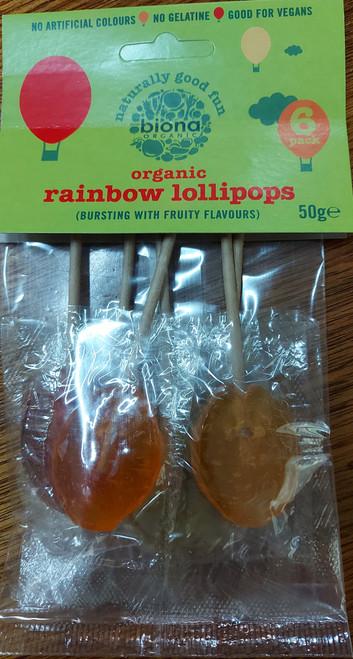 Lollies Rainbow Lollipops (6 pack) 50g