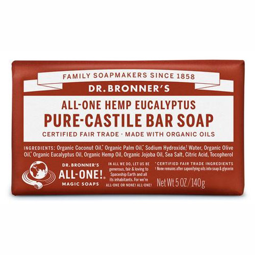 Soap Bar Castile Hemp Eucalyptus 140g - Dr Bronners