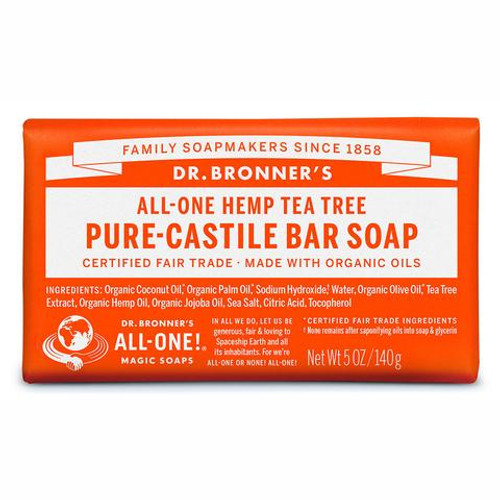Soap Bar Castile Hemp Tea Tree 140g - Dr Bronners