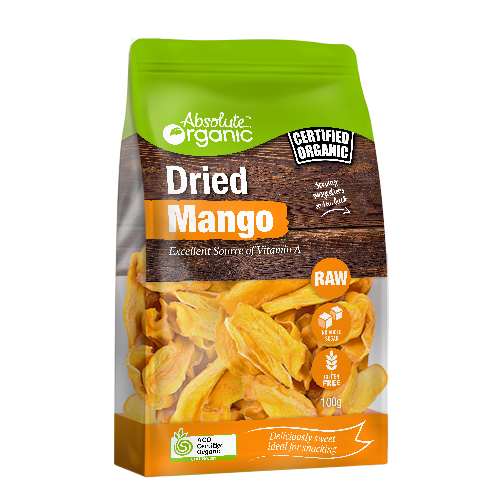 Mango Dried  Organic 100g - Absolute Organic